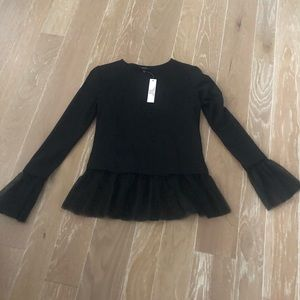 Drew XS Black tulle top tunic NWT Halloween or not